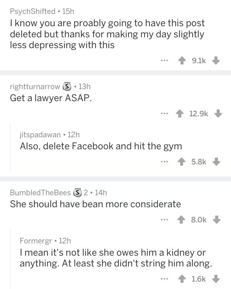 screenshot of post from reddit