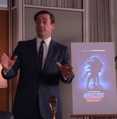 Don Draper pitching Sonic the Hedgehog live action movie