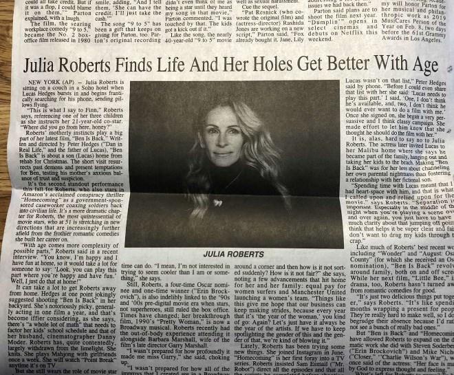 julia roberts article with typo in headline