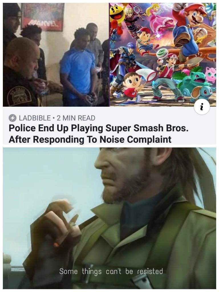 wholesome headline about police joining a video game play