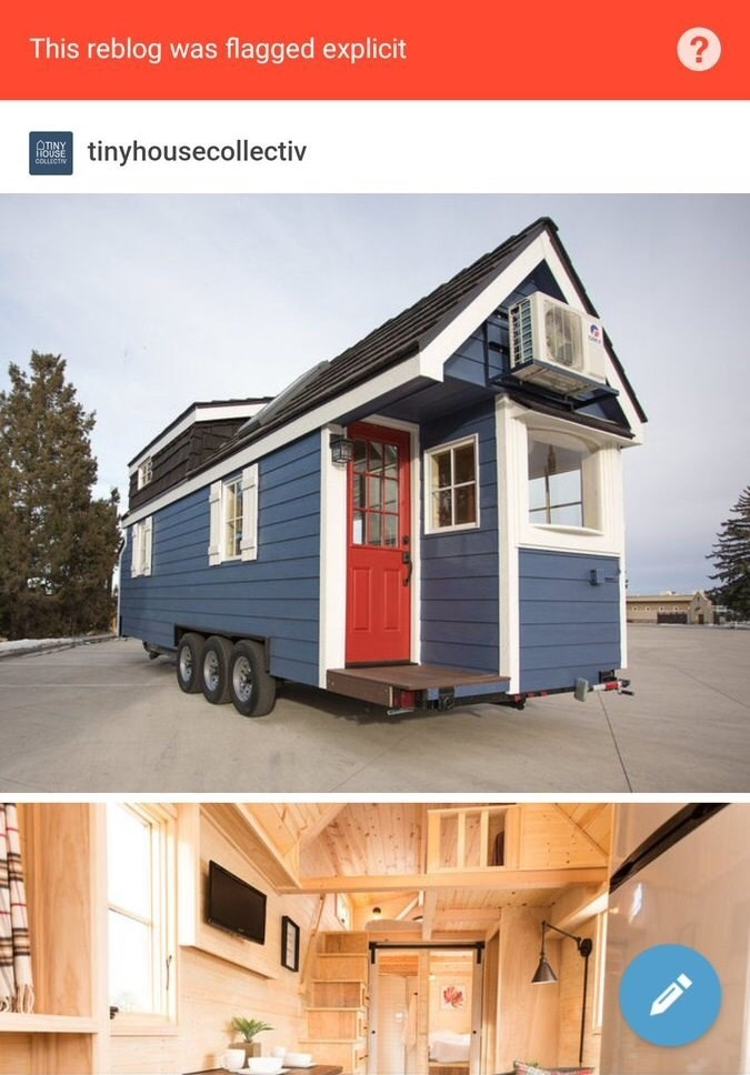 picture of house on wheels flagged as explicit on Tumblr
