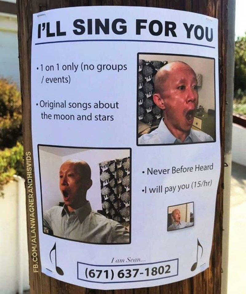 flyer for singer offering to listeners