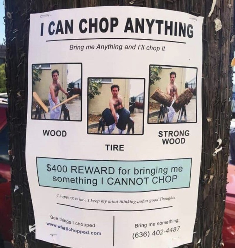flyer for chopping service