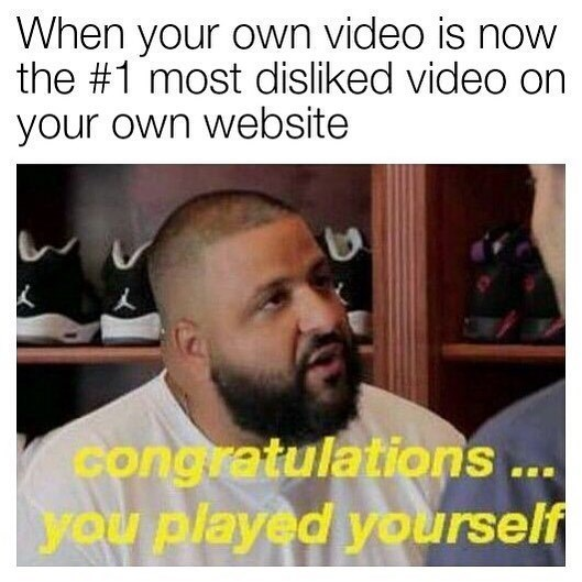 Funny meme about youtube rewind