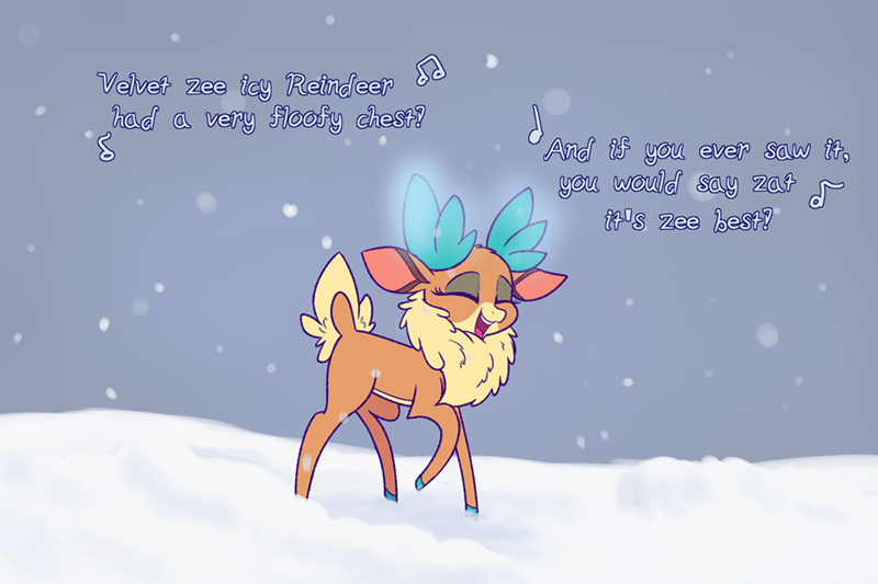 christmas reindeer heir of rick velvet - 9248271872