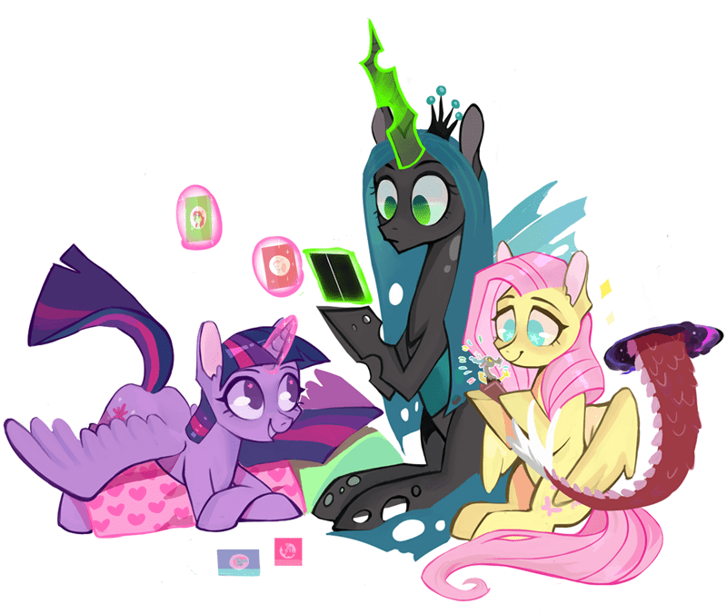 discord twilight sparkle chrysalis fluttershy changelings switch sugar - 9248273152