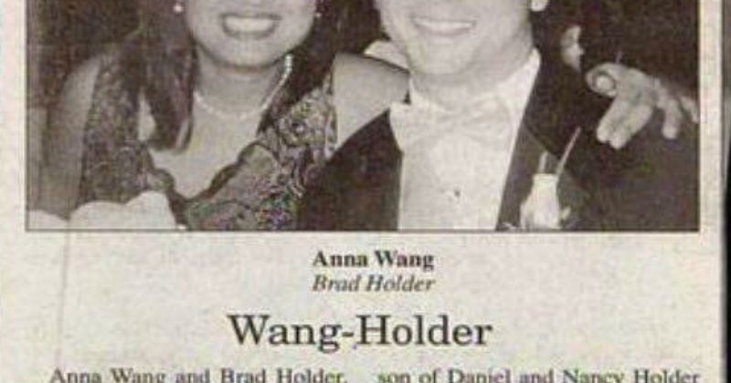 Silly and inappropriate names from wedding announcements.