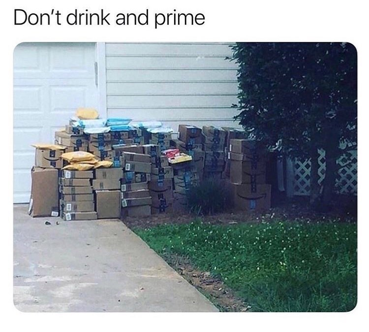 Text - Don't drink and prime