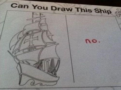 stupid but correct - Caravel - Can You Draw This Ship no.