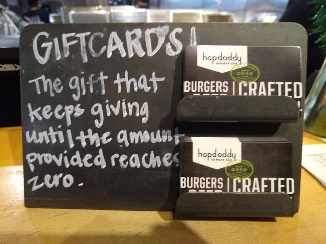 stupid but correct - Font - GIFTCARDS The gift that BURGERS I CRAFTED hopdoddy ss 2010 kecps giving untilthe amounp provided reaches odady zero 2010 BURGERS CRAFTED