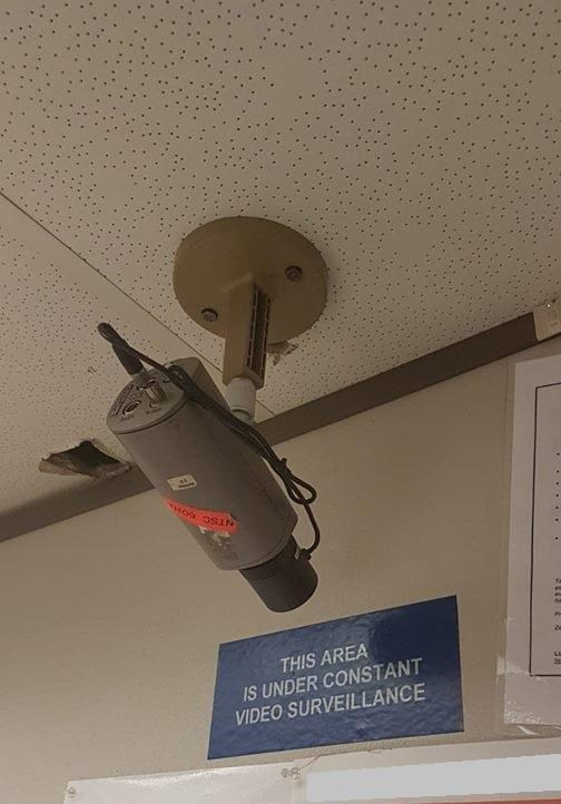 stupid but correct - Ceiling - THIS AREA IS UNDER CONSTANT VIDEO SURVEILLANCE