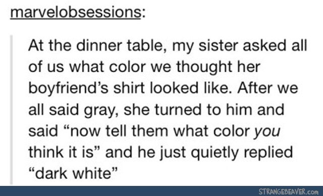 Tumblr post about person inventing a new color