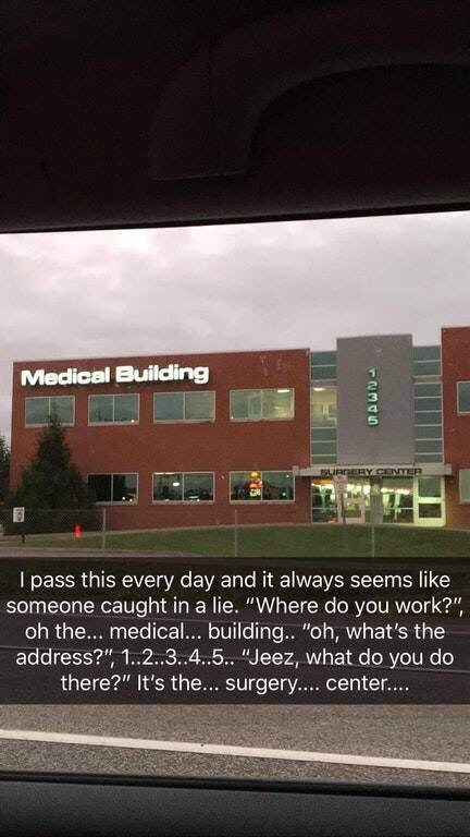 snapchat of building with strange signs on it