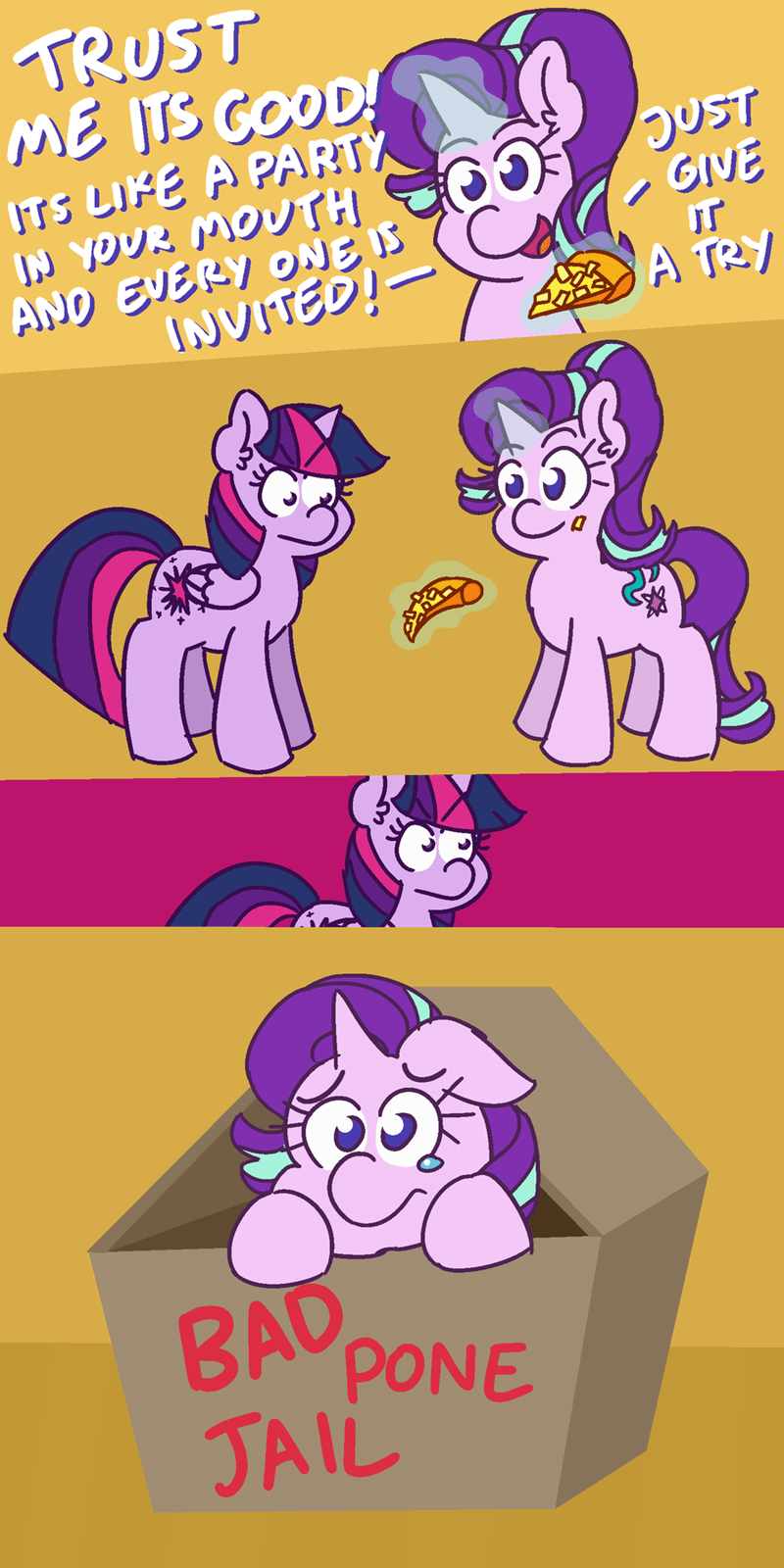 32232232 starlight glimmer twilight sparkle Memes comic the pizza is ruined - 9248946432