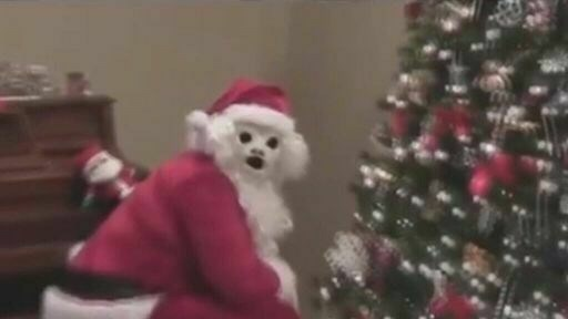 pic of Santa Claus with scary white face