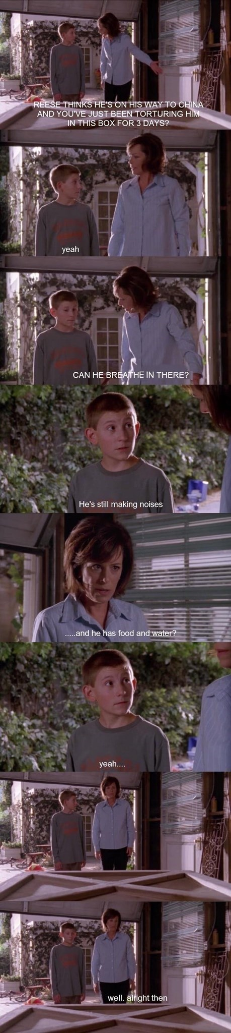 Malcolm In the Middle scene about keeping Reese in a box