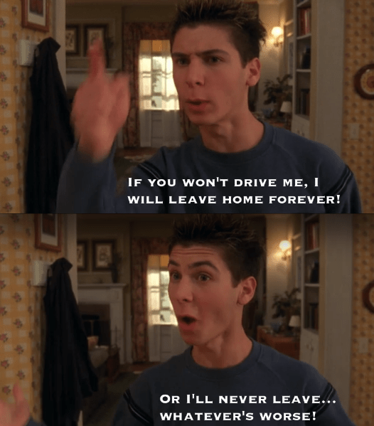 Malcolm In the Middle scene of Reese bargaining