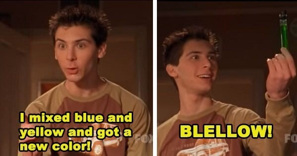 Malcolm In the Middle scene of Reese inventing the color green