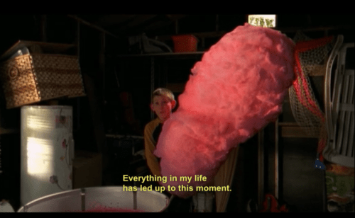 Malcolm In the Middle scene of Dewey with giant candy floss