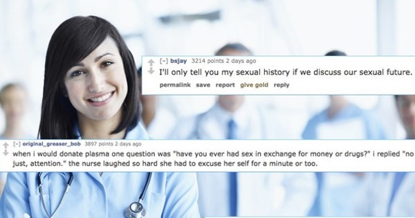 patients' answers to sexual history questions