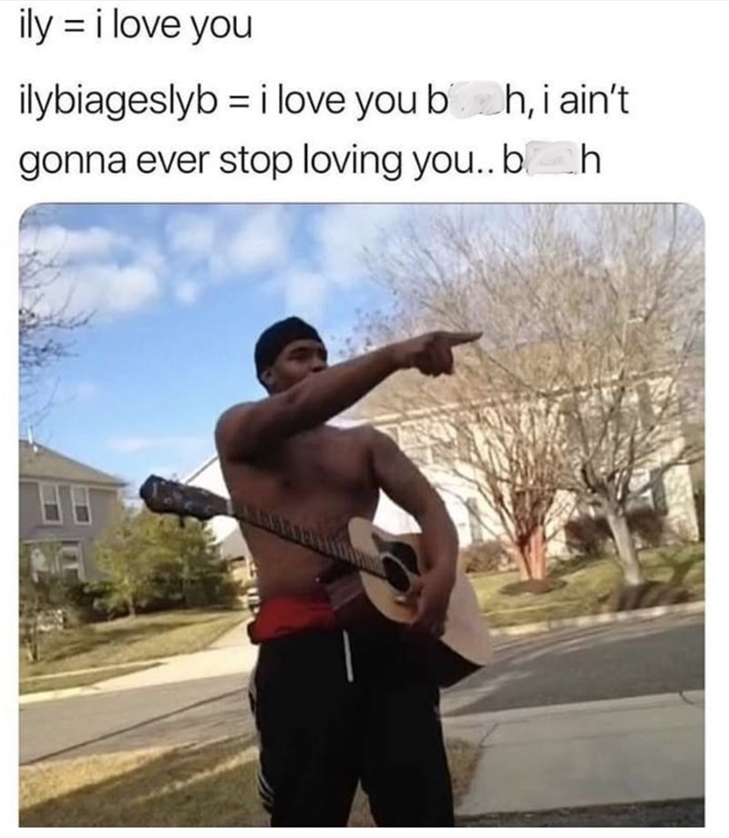 """meme about the definition of """"ilybiageslyb"""""""