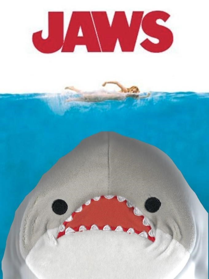 Pic of the stuffed shark in the Jaws poster
