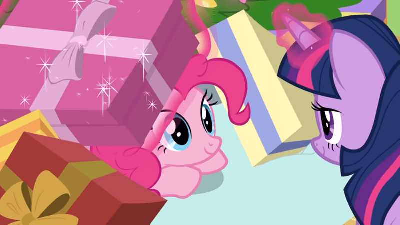 christmas hearths-warming-eve twilight sparkle screencap pinkie pie the great escape room best gift ever - 9249678080