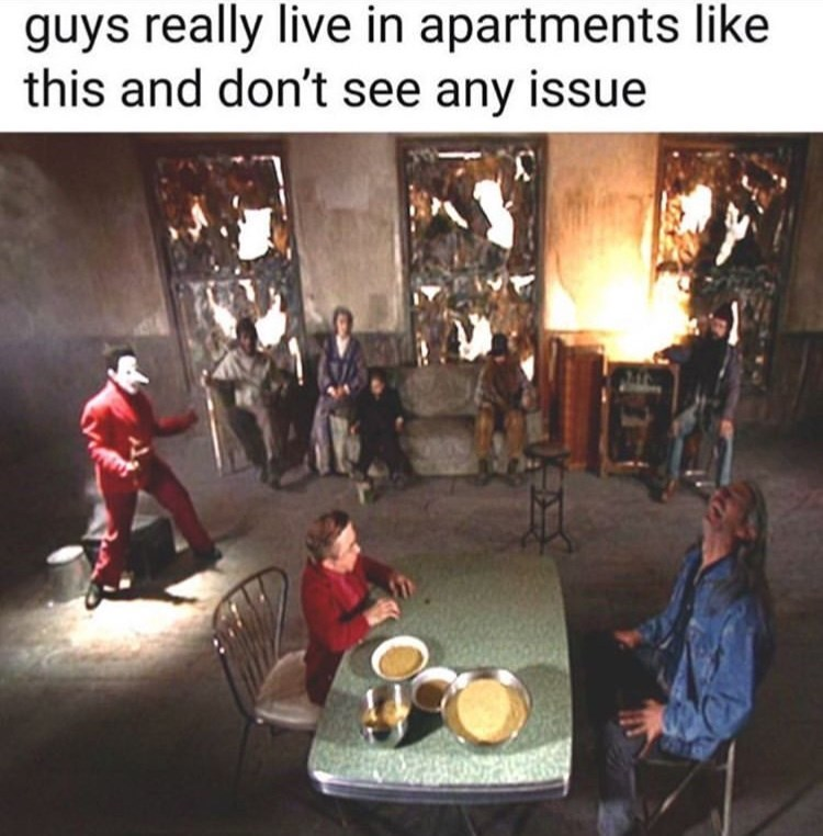 chaotic scene of what guys really live like