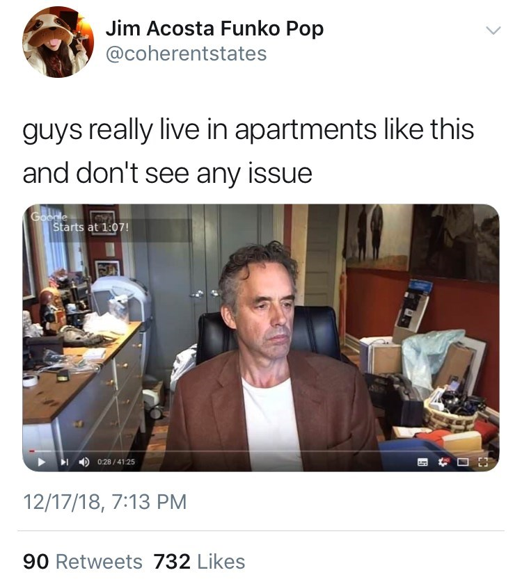 messy apartment of a single guy