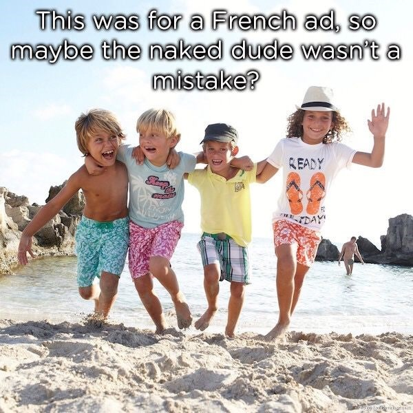 photoshop meme of a children's ad that has a naked man in the backround