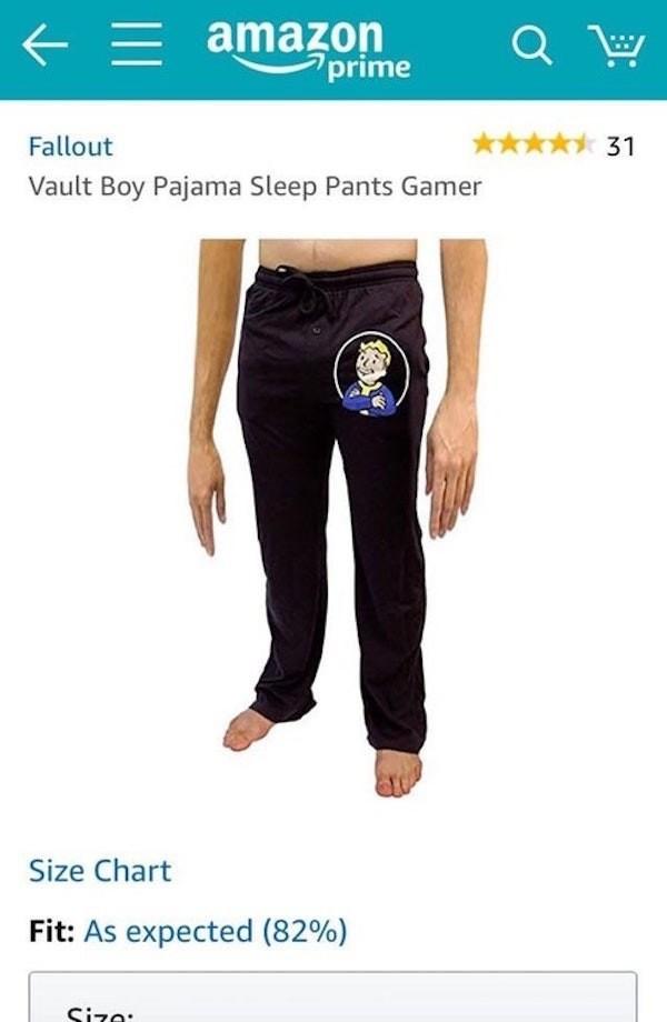 photoshop fail of fallout vault boy pajamas pants