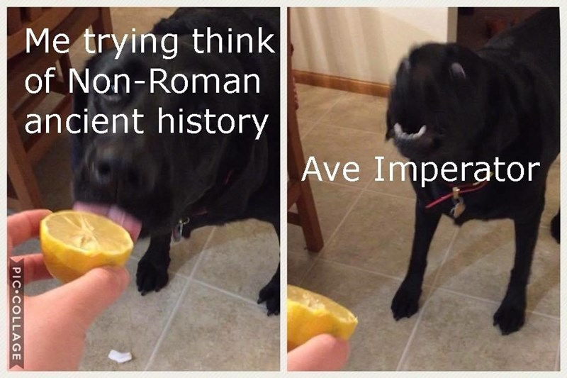 meme about connection Roman history to everyday life