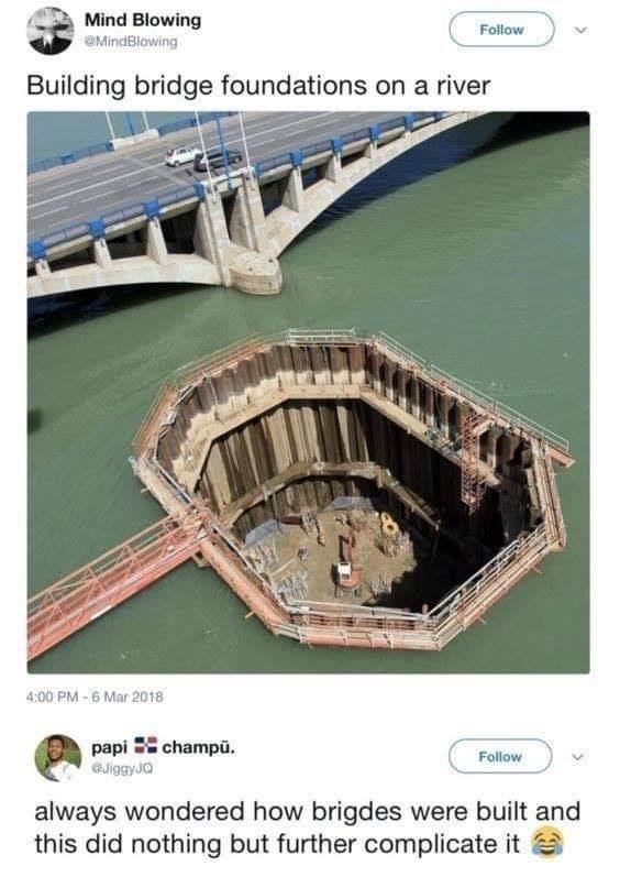 meme about not understanding bridge architecture