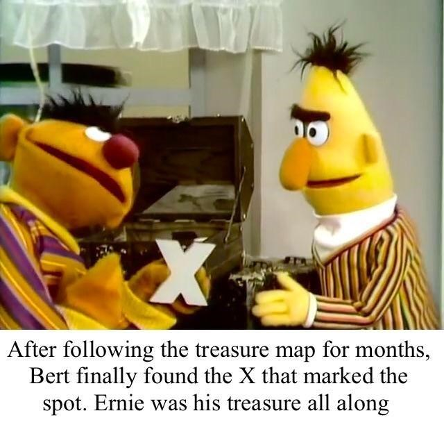 wholesome meme about bert and ernie.