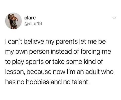 white people twitter meme about having parents that are too supportive