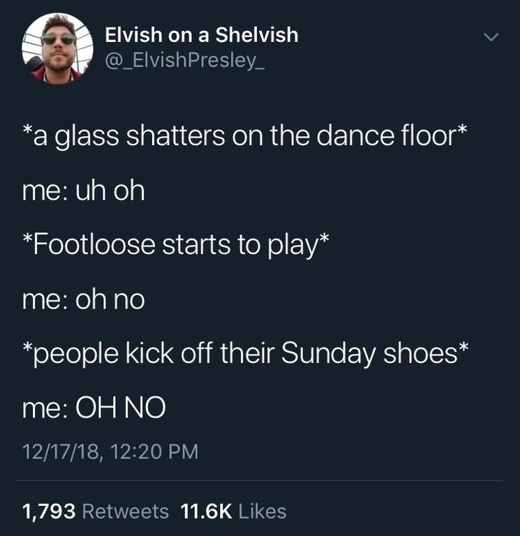 white people twitter meme about Footloose