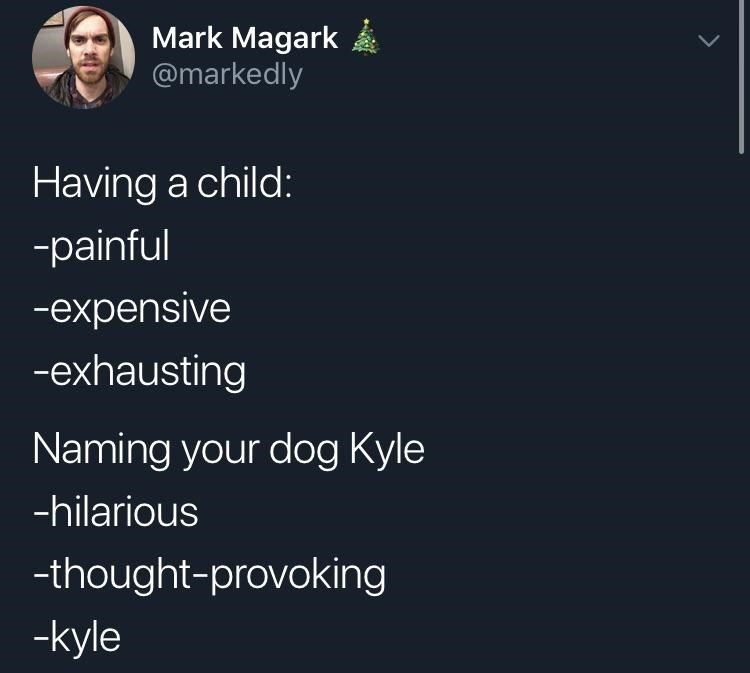 white people twitter meme about naming your dog a human name