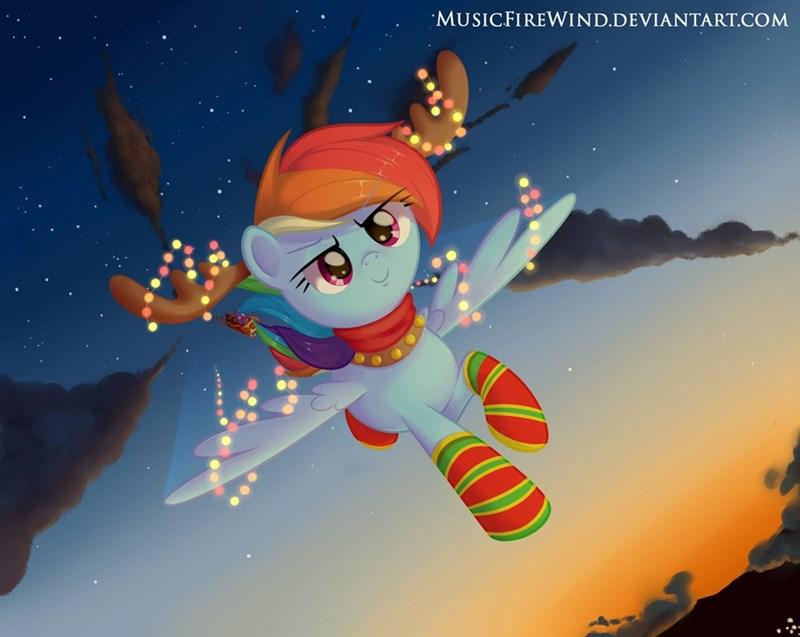 christmas music fire wind rainbow dash - 9249888000