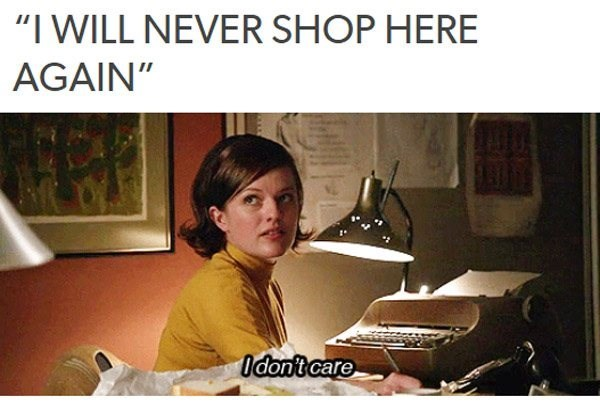 """Text - """"I WILL NEVER SHOP HERE AGAIN"""" Odontcare"""