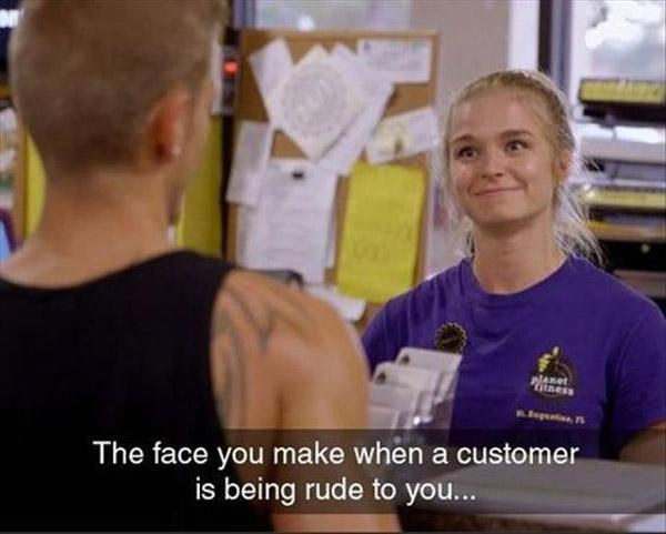 Shoulder - Pness The face you make when a customer is being rude to you...