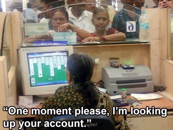 """Job - """"One moment please, I'm looking up your account."""" TERK TEC"""