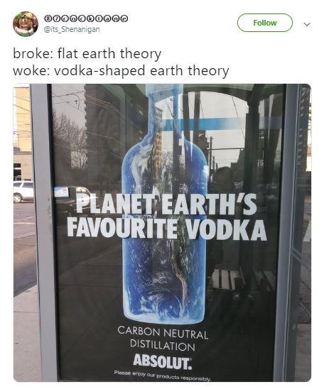 broke or woke tweet about conspiracy theories