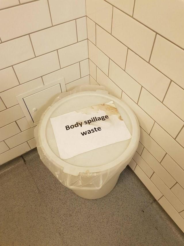 Tile - Body spillage waste