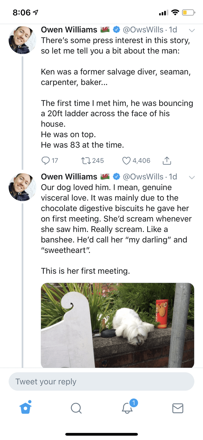 wholesome Christmas meme describing late neighbor and how he became close to the family