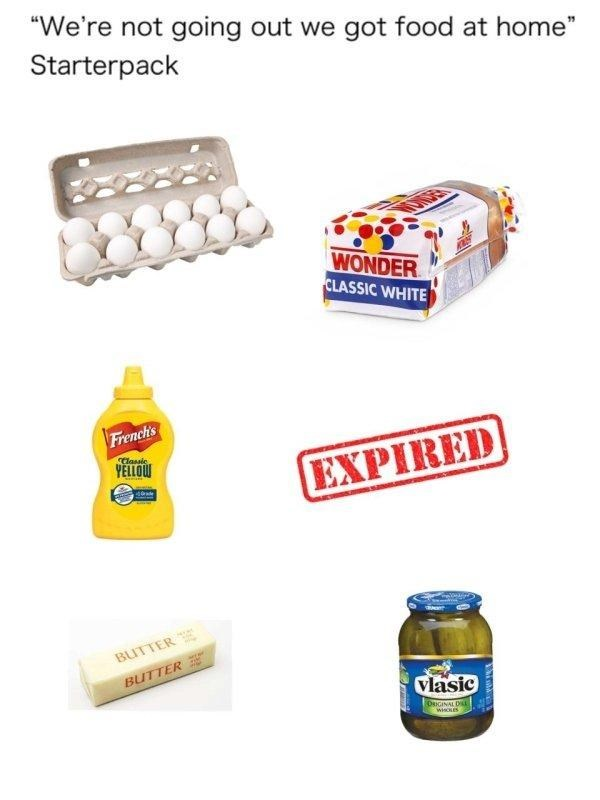 food you have at home starter pack