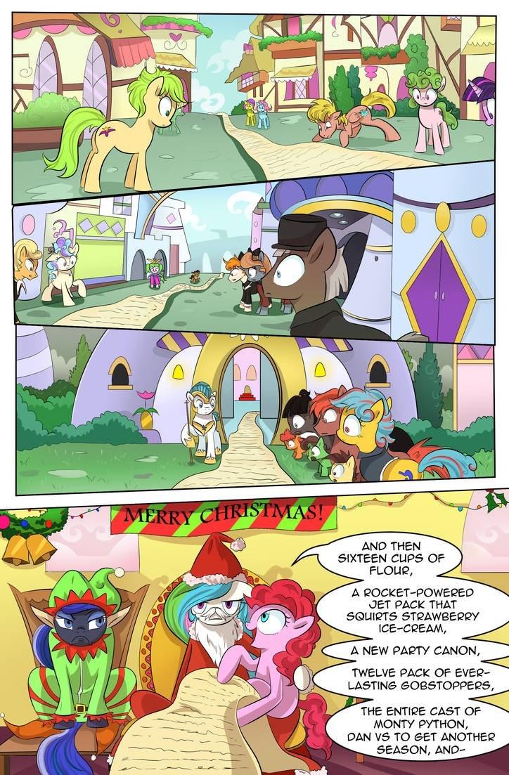 christmas candy clumsy pinkie pie rated r ponystar princess luna comic princess celestia - 9250337792