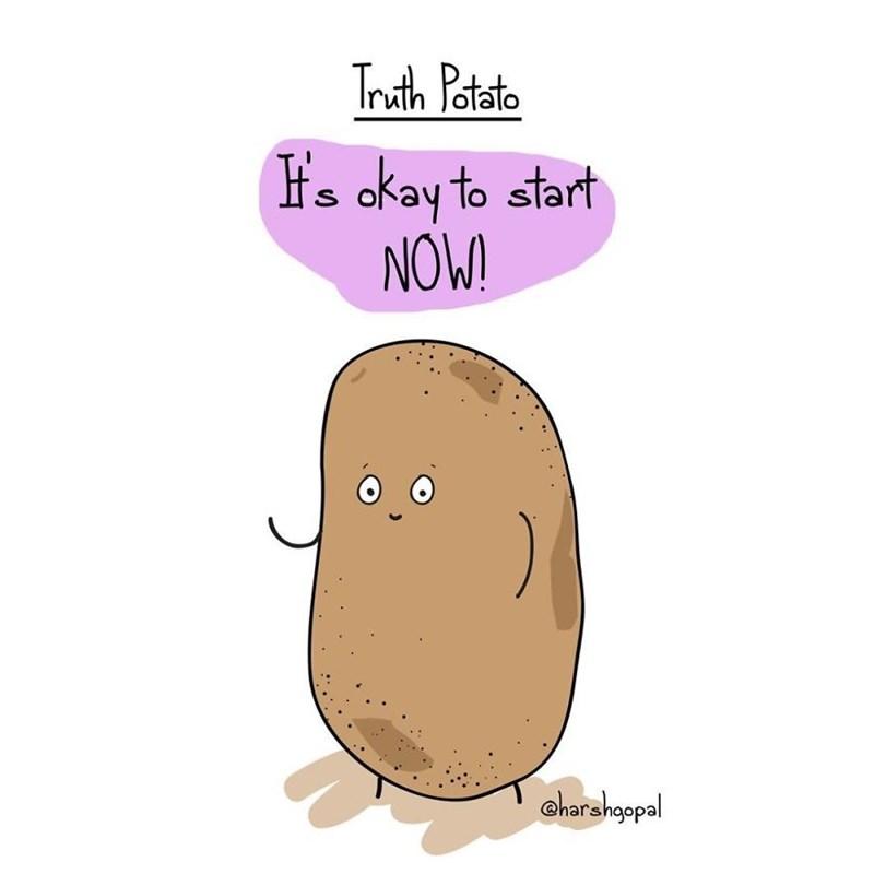 harsh reality - Potato - Truth Patato H's okay to start NOW! S harshgopal