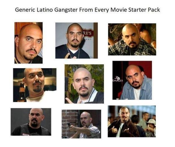 Face - Generic Latino Gangster From Every Movie Starter Pack RE'S EMAGES