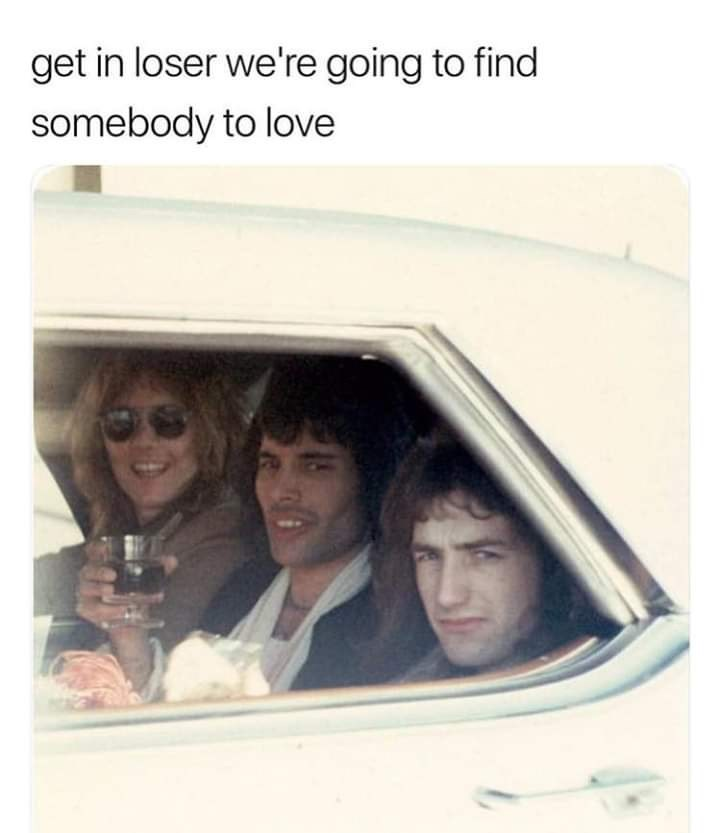 Photograph - get in loser we're going to find somebody to love