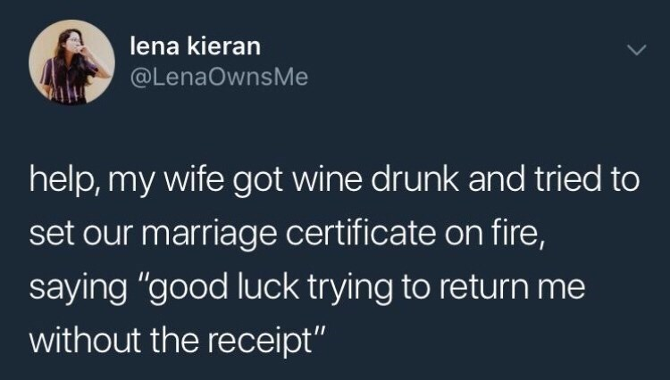 funny meme about a woman who tried to destroyed her marriage certificate so she wouldn't get returned